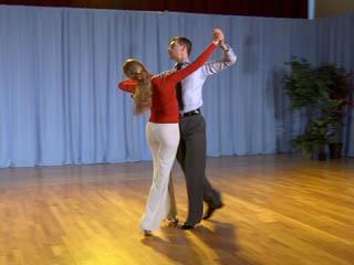 Natural Twist Turn on Foxtrot Dancers