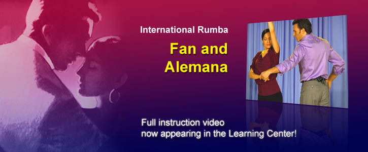 This week's instructional video: Rumba Fan and Alemana. Learn it now!